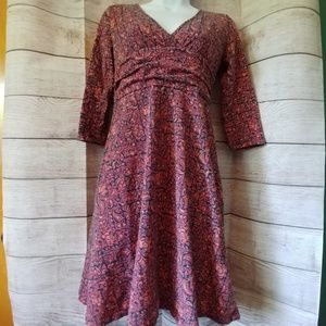 Patagonia Long Sleeve Floral Dress